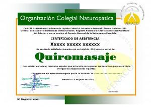 Certificado en .......