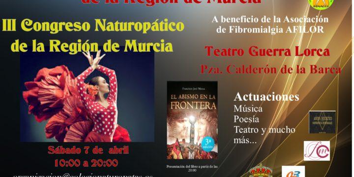 El III Congreso Naturopático tendrá cabida dentro del I Certamen Nacional NaturCultur de la Región de Murcia