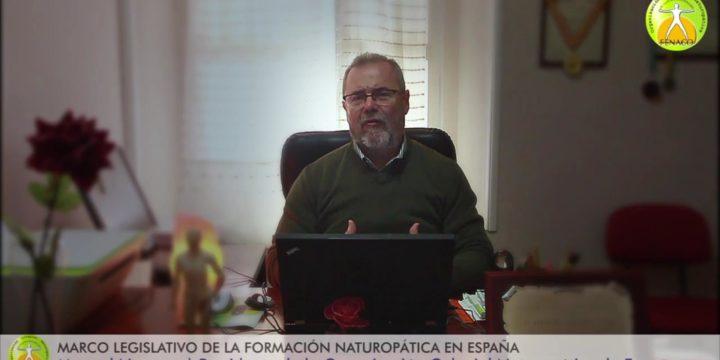 El presidente de la OCN, Manuel Navarro, habla sobre el marco legislativo de la formación de Naturopatía