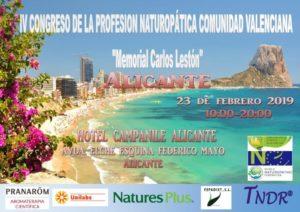 """IV Congreso de la Profesión Naturopática Comunidad Valenciana """"Memorial Carlos Lestón"""" @ Hotel Campanile Alicante"""