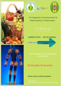 IV CONGRESSO INTERNACIONAL DE NATUROPATÍA E FITOTERAPIA