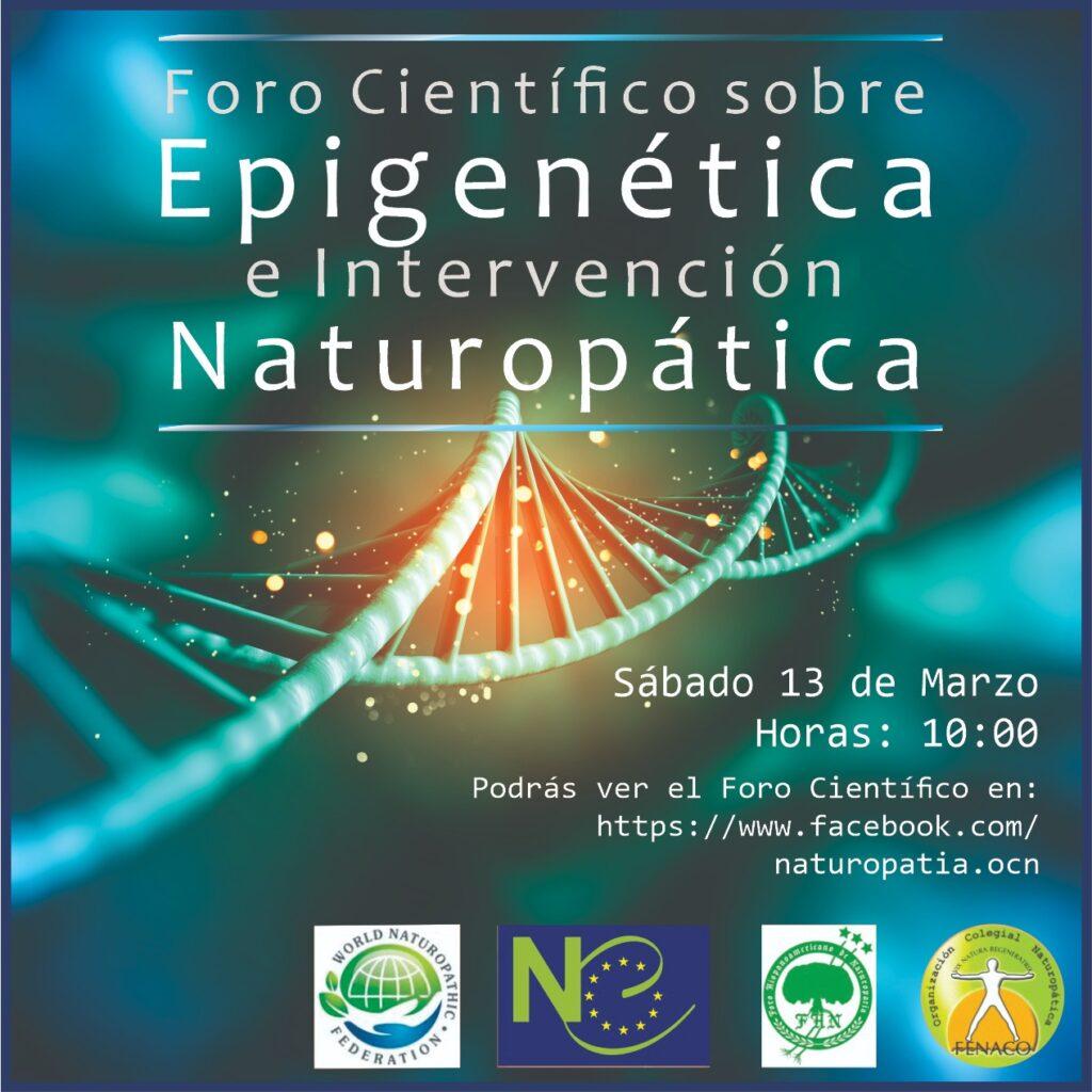 Foro Científico sobre Epigenética e Intervención Naturopática @ FORO ONLINE FACEBOOK