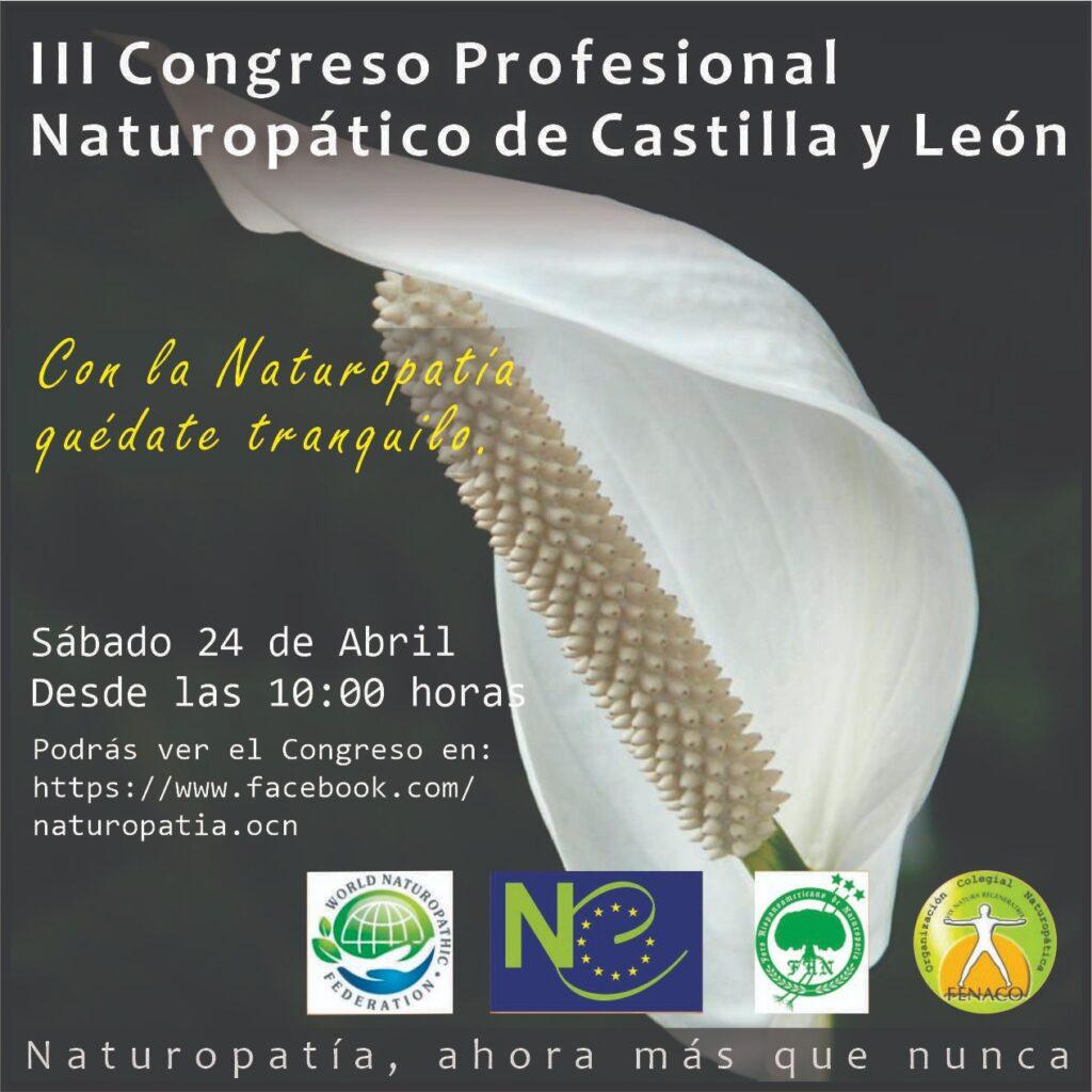 III Congreso Profesional Naturopático de Castilla y León @ ONLINE FACEBOOK CASTILLA Y LEON