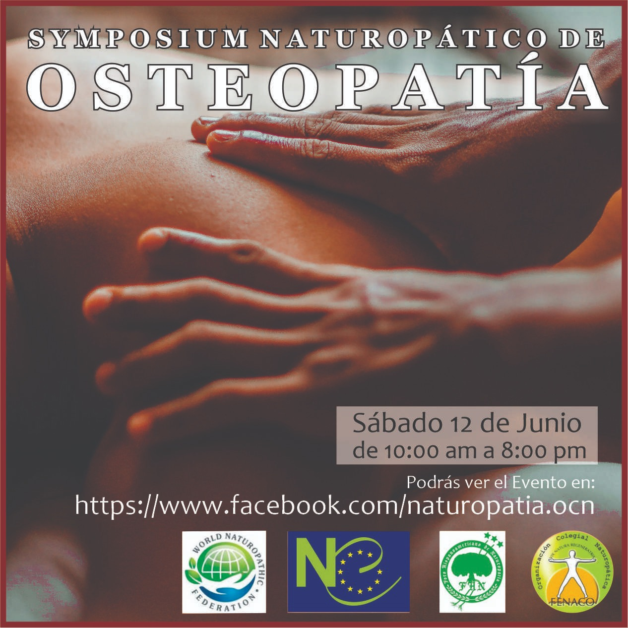 SYMPOSIUM NATUROPÁTICO DE OSTEOPATIA @ ONLINE FACEBOOK