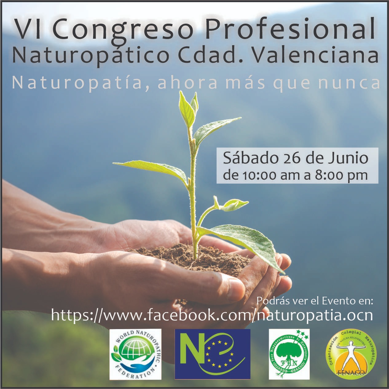 VI CONGRESO PROFESIONAL NATUROPÁTICO CDAD. VALENCIANA @ ONLINE EN LA COMUNIDAD VALENCIANA